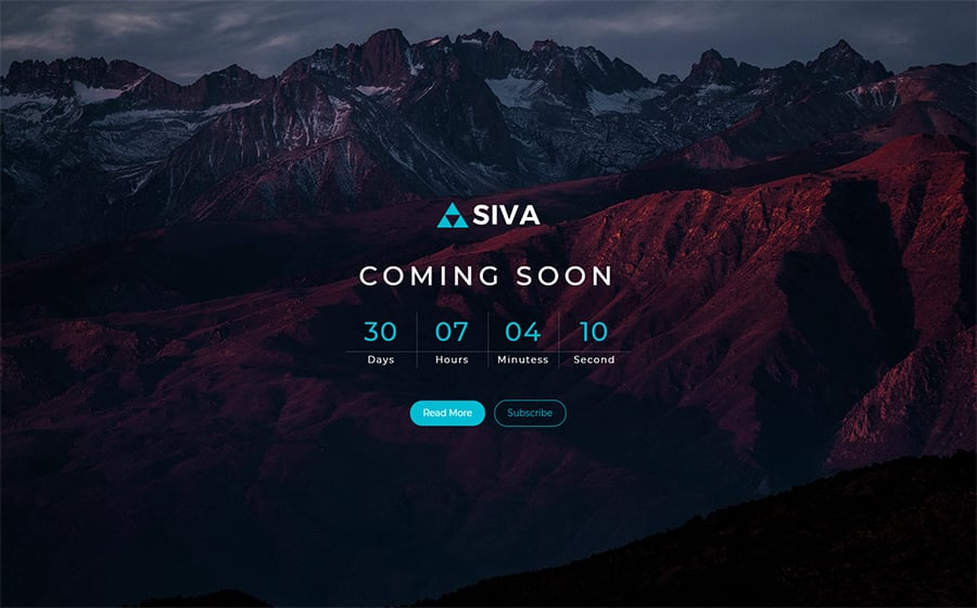 SIVA - Coming Soon Responsive Specialty Page