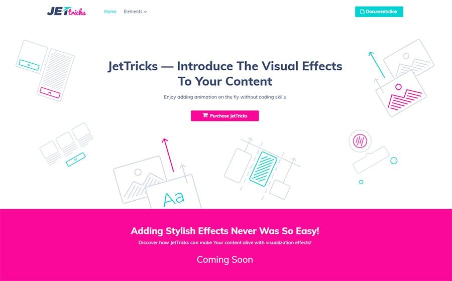 JetTricks - Visual Effects Addon for Elementor WordPress Plugin