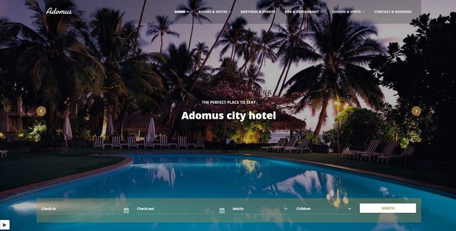 Adomus - Hotel WordPress Theme