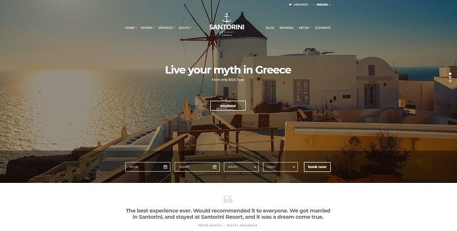 Santorini Resort - Hotel theme