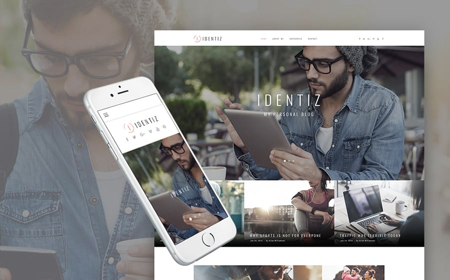 Identiz - Personal Blog WordPress Theme