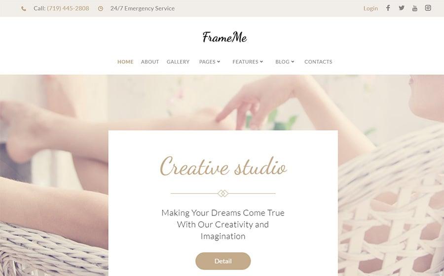 FrameMe - Photography Studio WordPress Theme