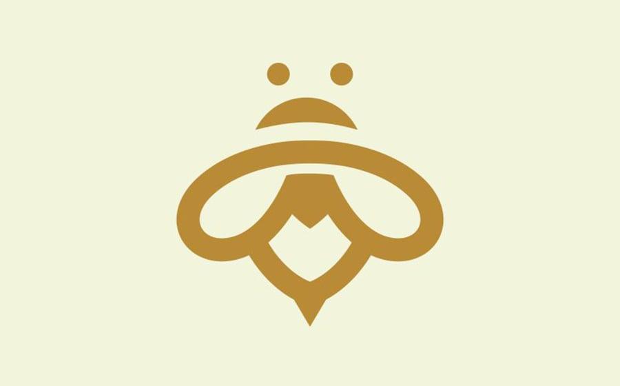 Minimalist Bee Logo Template