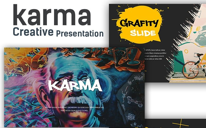 Karma Creative Presentation PowerPoint Template