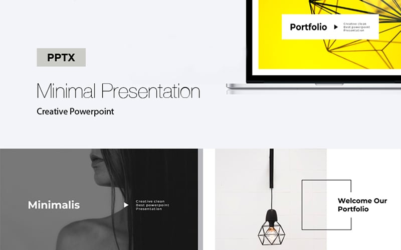 Creative Minimal Presentation PowerPoint Template