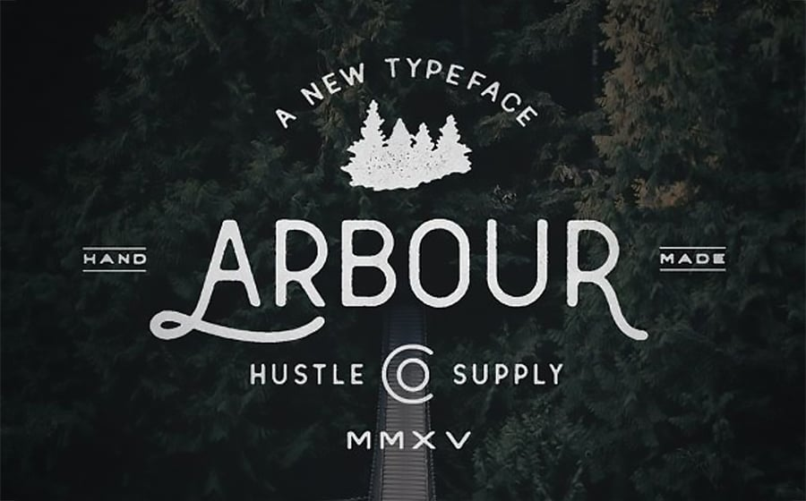 Arbour - Hand Drawn Font