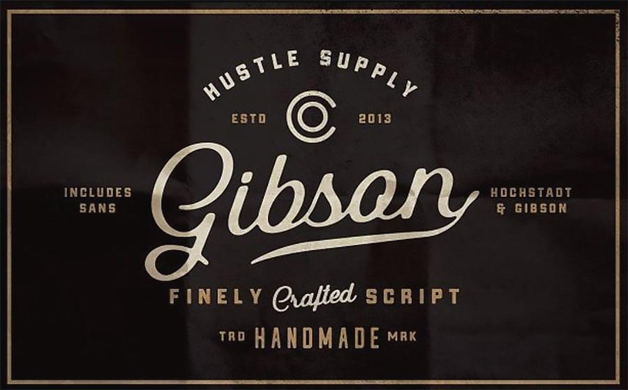 Gibson Script + Extras Font