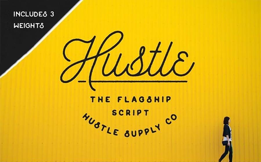 Hustle Script - Monoline Font