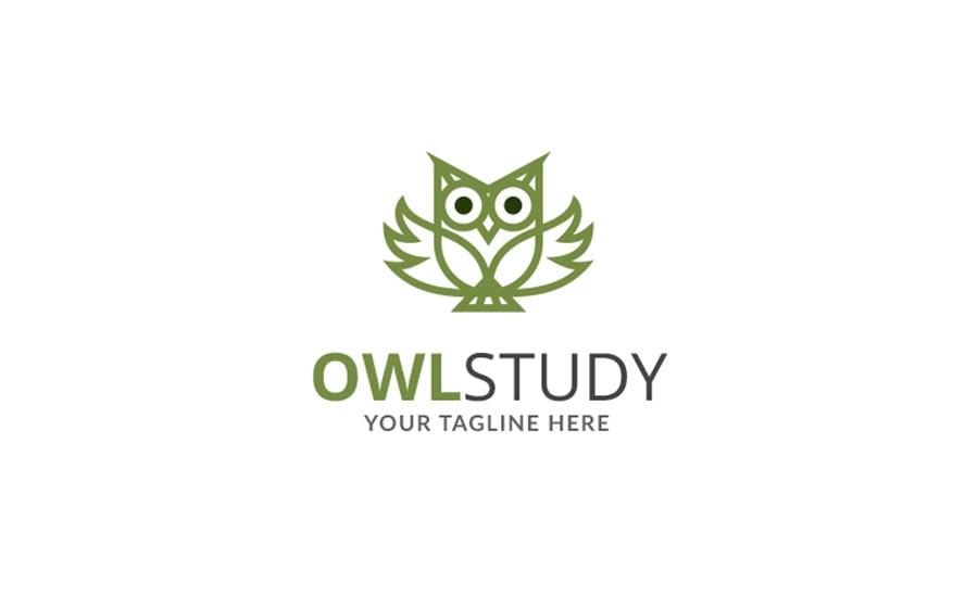 Owl Study Logo Template