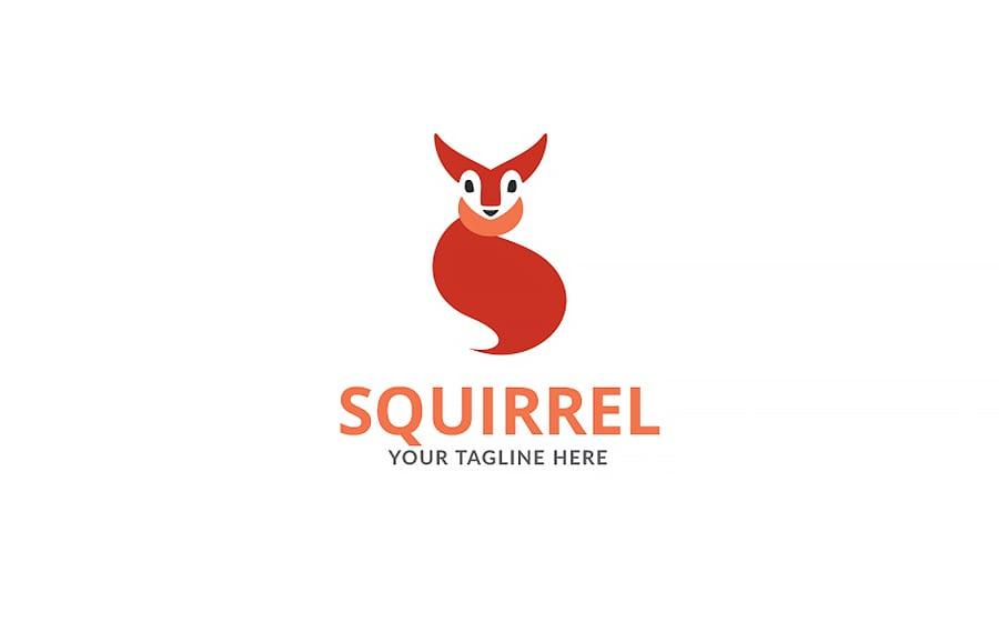 Squirrel Art Design Logo Template