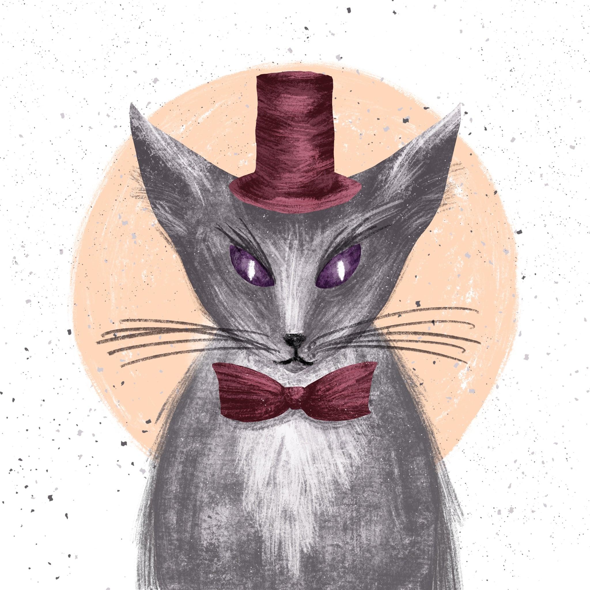 An Interview with Illustrator and MasterBundles Vendor Nastassia Zzorna - ForQuestion3 Skillshare project Hat Cat