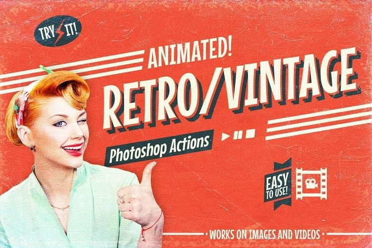 Animated Retro Vintage Film - Photoshop Actions