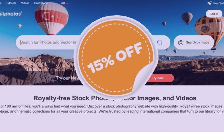 DepositPhotos Promocode 15% off.