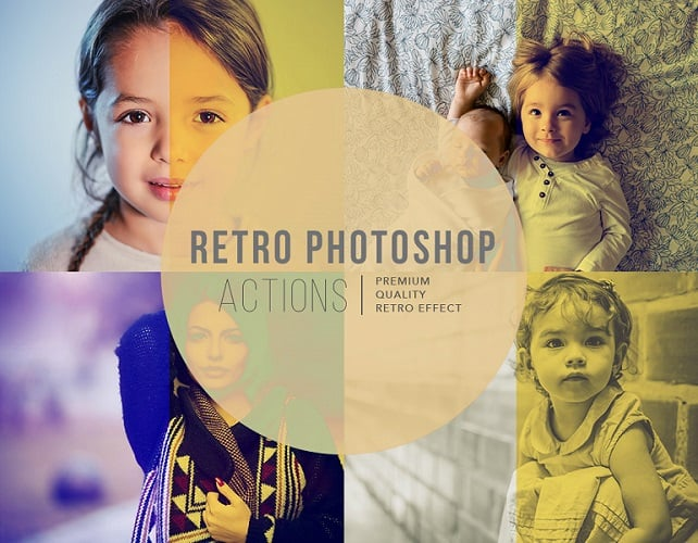 Free vintage effect Photoshop action