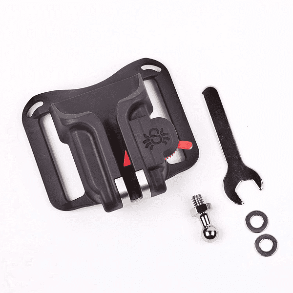 Holster-convenient mount for the camera.
