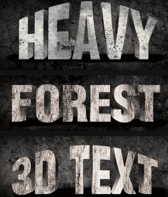 Premium Photoshop Text Styles