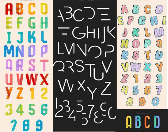 Premium Vector Alphabets