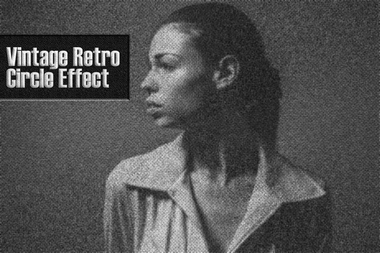 Free Vintage Retro Circle Effect