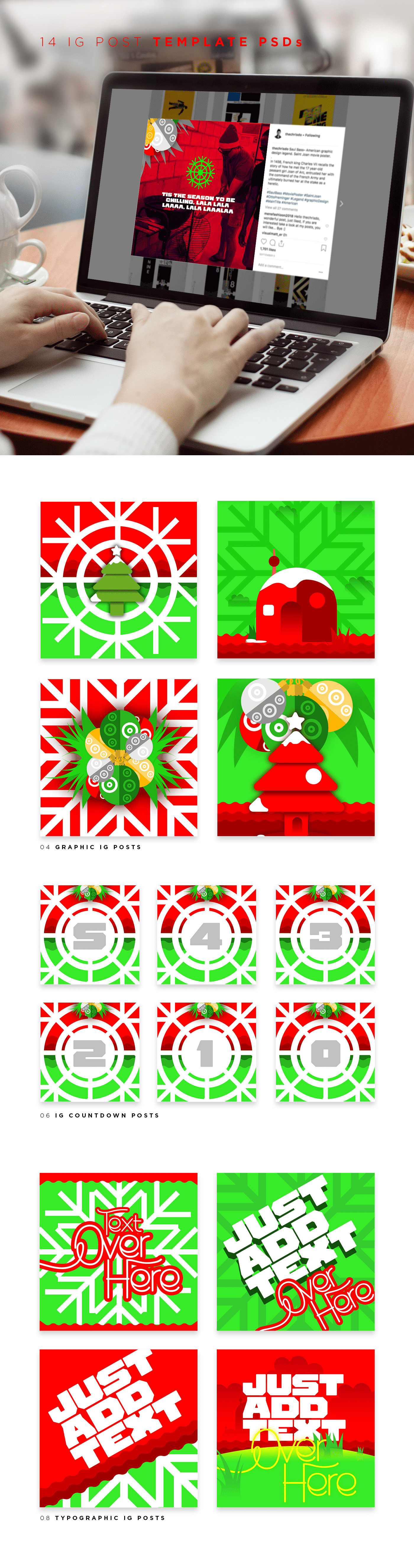 Xmas Meadow Collection - $17 ONLY - 06
