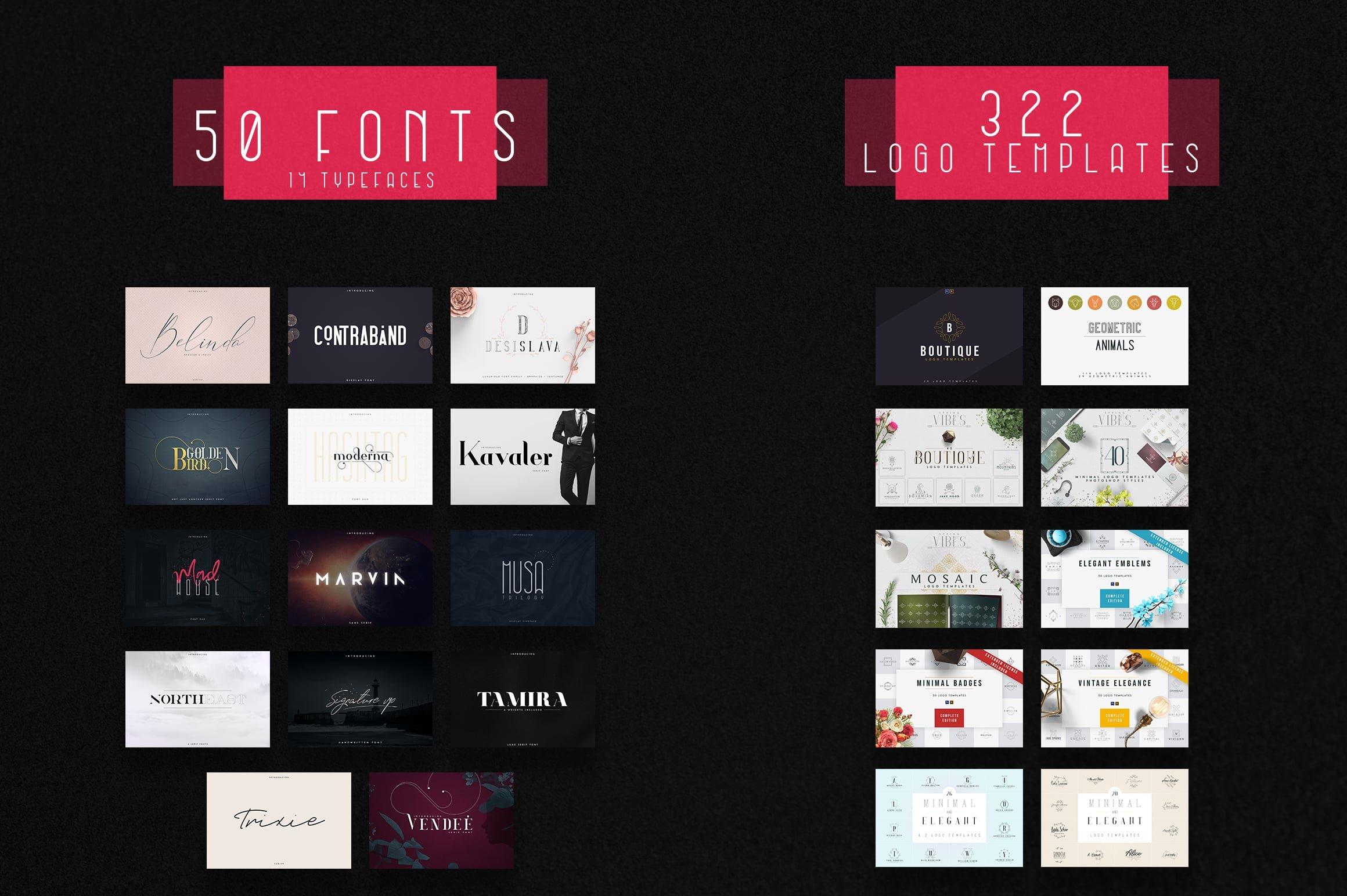 Huge Font & Logo Bundle - 99% OFF - 2