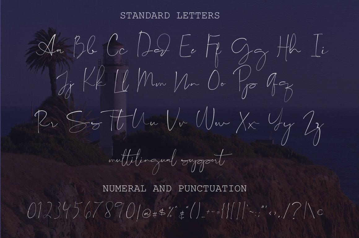 Lighthouse Script Font - $7 only - Consuela Cover Image calvin version