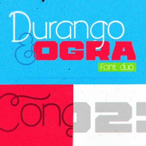 20 Best Psychedelic Fonts for Printing, Websites, Logos and Applications - Durango Ogra MasterBundles 490x490 C