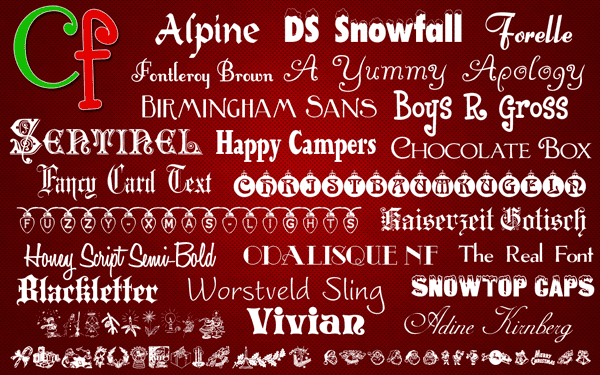110+ Best Christmas Fonts 2020: Free & Premium - Free Christmas Fonts Collection