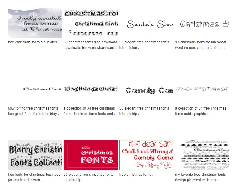 110+ Best Christmas Fonts 2020: Free & Premium - Free Christmas Fonts For Microsoft Word