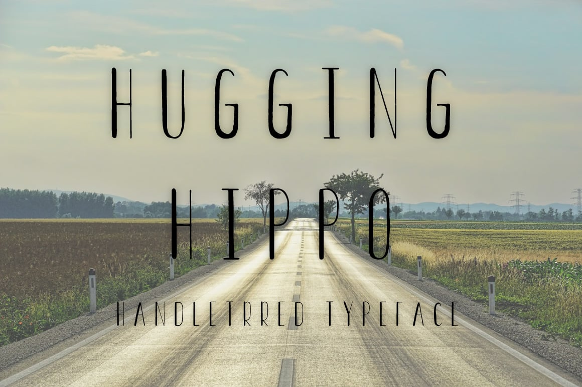 Hugging Hippo regular font - $4 - Untitled 6 1