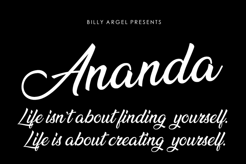 135+ Best Script Fonts in 2020. Free and Premium - ananda 2