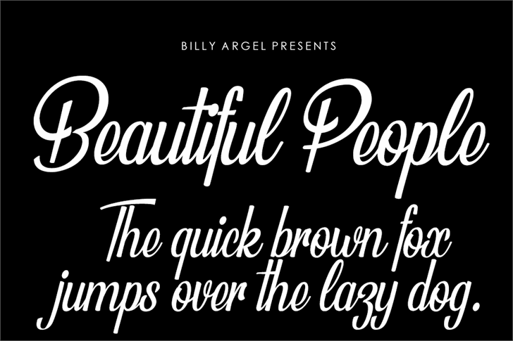 135+ Best Script Fonts in 2020. Free and Premium - beautiful people
