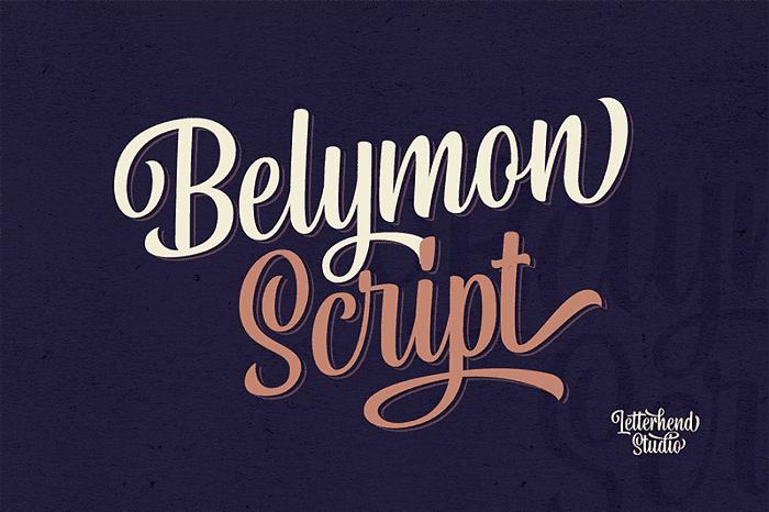 135+ Best Script Fonts in 2020. Free and Premium - belymon script