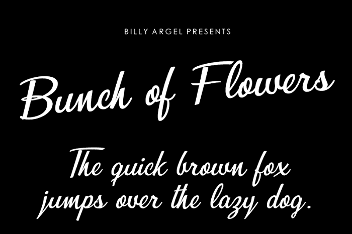 135+ Best Script Fonts in 2020. Free and Premium - bunch of flowers