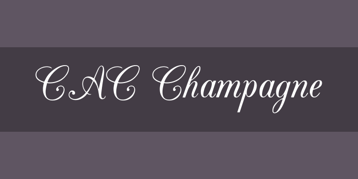 135+ Best Script Fonts in 2020. Free and Premium - cac champagne