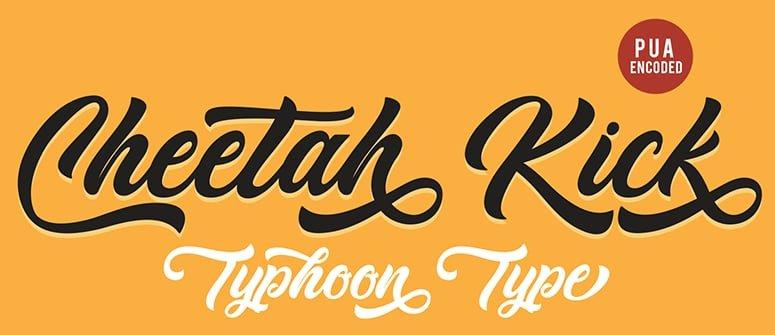 135+ Best Script Fonts in 2020. Free and Premium - cheetah kick