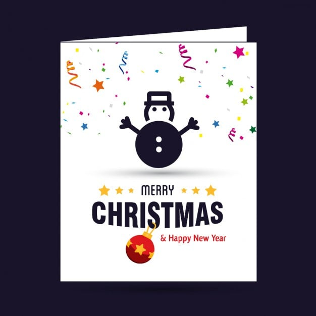 150+ Free Christmas Graphics: Fonts, Images, Vectors, Patterns & Premium Bundles - christmas card with a snowman
