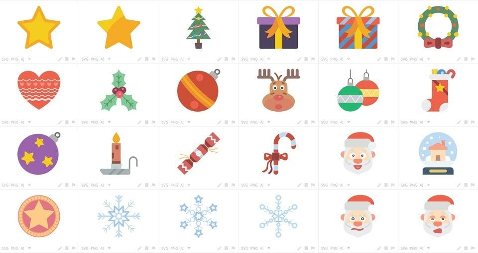 150+ Free Christmas Graphics: Fonts, Images, Vectors, Patterns & Premium Bundles - christmas flat