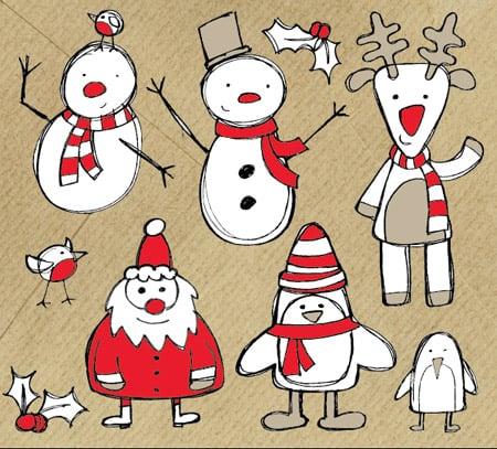 150+ Free Christmas Graphics: Fonts, Images, Vectors, Patterns & Premium Bundles - christmas sketch vectors