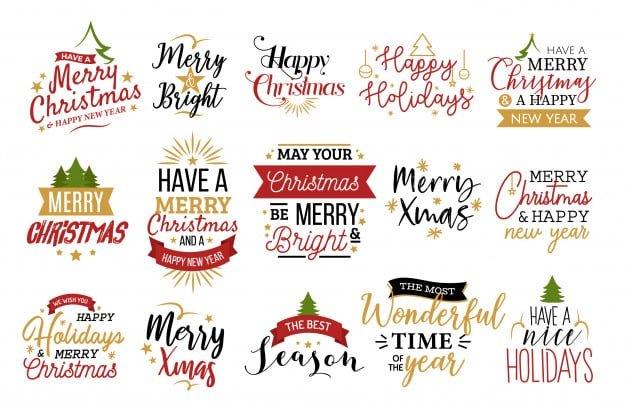 150+ Free Christmas Graphics: Fonts, Images, Vectors, Patterns & Premium Bundles - christmas typography set
