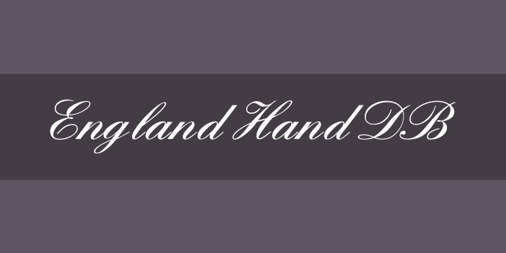 135+ Best Script Fonts in 2020. Free and Premium - england hand db