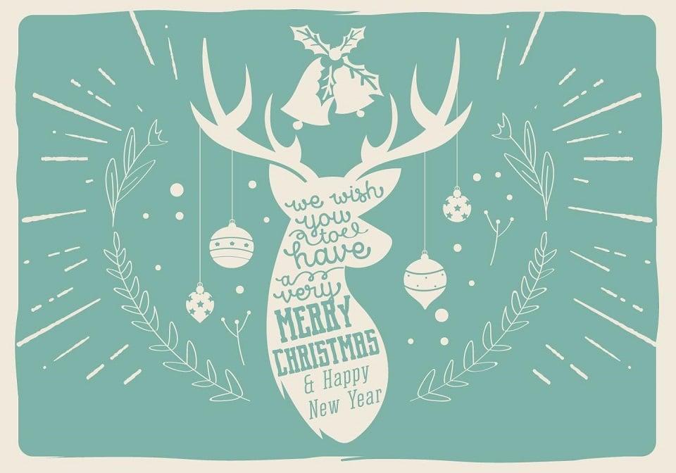 150+ Free Christmas Graphics: Fonts, Images, Vectors, Patterns & Premium Bundles - free vector deer christmas illustration
