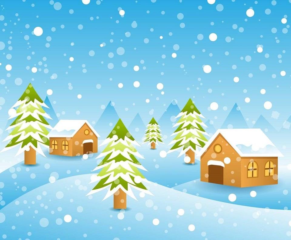 150+ Free Christmas Graphics: Fonts, Images, Vectors, Patterns & Premium Bundles - free winter background