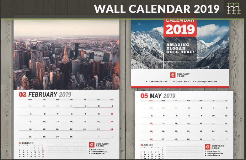 BEST Calendar Templates 2019 To Promote Your Business
