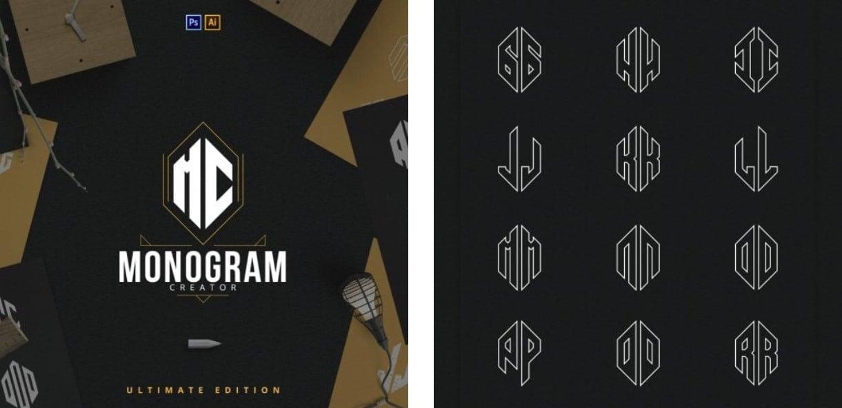 Monogram Maker. 8+ AMAZING Options To Create Monogram Logo Designs With Monogram Maker Online - image7 1