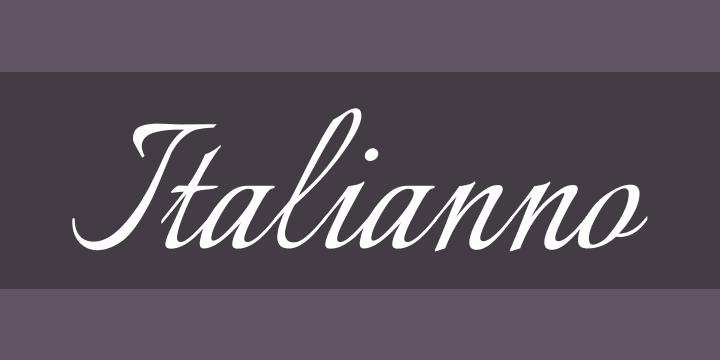 135+ Best Script Fonts in 2020. Free and Premium - italianno