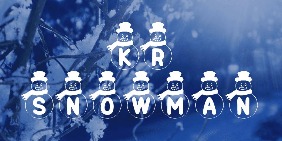 150+ Free Christmas Graphics: Fonts, Images, Vectors, Patterns & Premium Bundles - kr snowman font 1 big