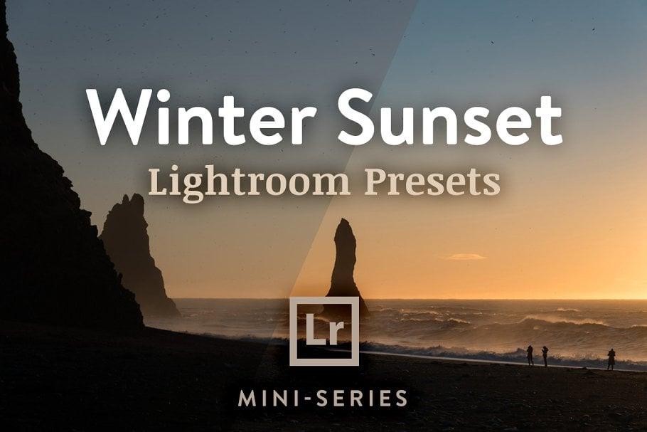 150+ Free Christmas Graphics: Fonts, Images, Vectors, Patterns & Premium Bundles - lightroom presets winter sunset