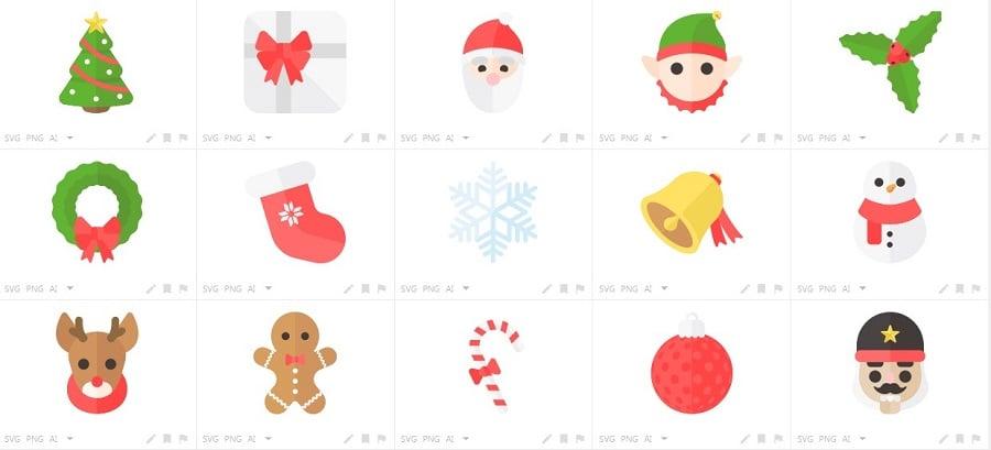 150+ Free Christmas Graphics: Fonts, Images, Vectors, Patterns & Premium Bundles - merry flat christmas