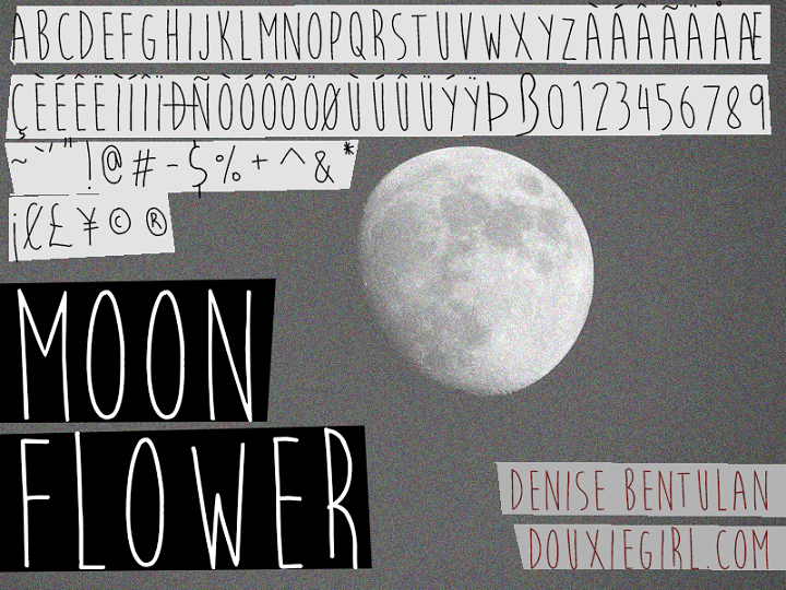 135+ Best Script Fonts in 2020. Free and Premium - moon flower
