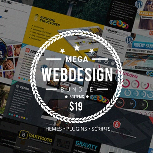 Mega Web Design Bundle with Extended License - Only $19 - preview